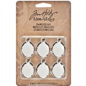 TIM HOLTZ® IDEA-OLOGY™ - Enamelled Tags  6/Pkg – TH93058